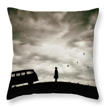 Bus Throw Pillows