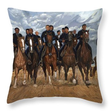 Freedom Riders Throw Pillow