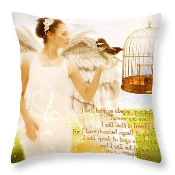 Freedom Song With Scripture Throw Pillow