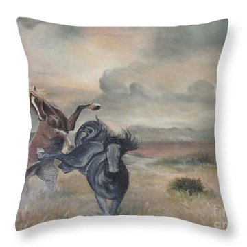 Throw Pillow featuring the painting Freedom by Sorin Apostolescu