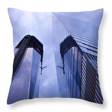 Freedom Tower Ground Zero New York City Throw Pillow by Sabine Jacobs