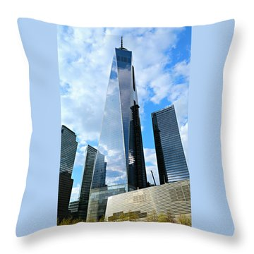 Freedom Tower Throw Pillow by Stephen Stookey