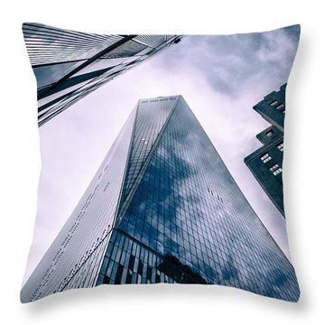 Freedom Tower Throw Pillow by Wade Brooks