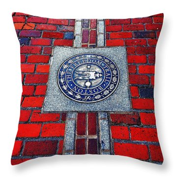 Freedom Trail Throw Pillow by Benjamin Yeager
