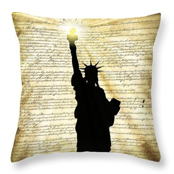 Freedoms Light Throw Pillow by Daniel Hagerman