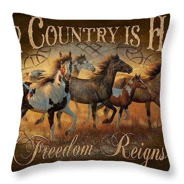 Freedon Reigns Throw Pillow