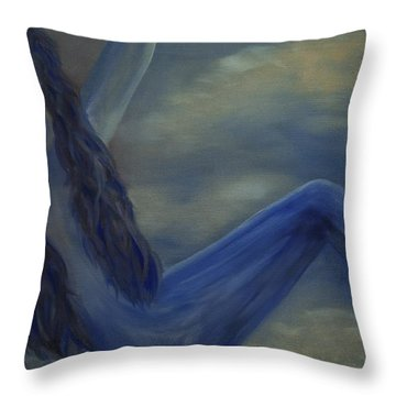 Throw Pillow featuring the painting Freefall by Stuart Engel