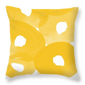 Freesia Splash Throw Pillow by Linda Woods