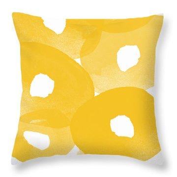 Freesia Splash Throw Pillow