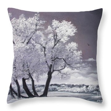Freeze Throw Pillow by Sorin Apostolescu