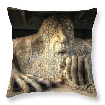 Throw Pillow featuring the photograph Fremont Public Art by Chris Anderson