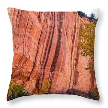 Fremont River Cliffs Capitol Reef National Park Throw Pillow