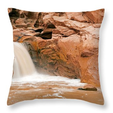 Fremont River Falls Capitol Reef National Park Throw Pillow