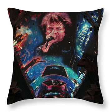 Fremont Street Experience Throw Pillow