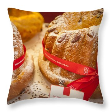 French - Alsace Pastry Throw Pillow by Brian Jannsen