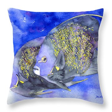 French Angelfish Throw Pillow