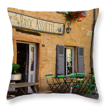 Throw Pillow featuring the photograph French Auberge by Dany Lison