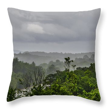 French Broad River Throw Pillow by Carolyn Marshall