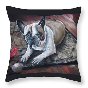 french Bull dog Throw Pillow