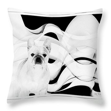 Throw Pillow featuring the painting French Bulldog by Barbara Chichester