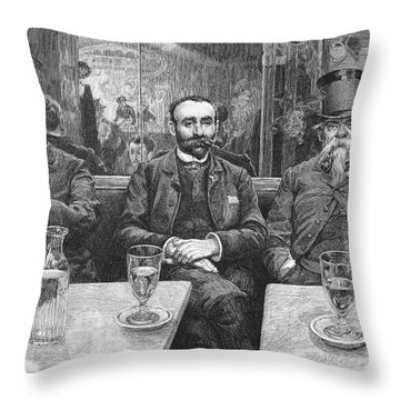French CafÉ, 19th Century Throw Pillow by Granger