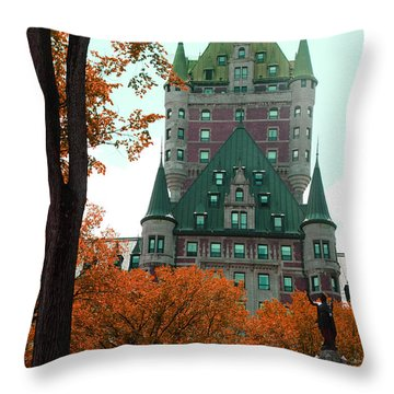 French Canadian Hotel Throw Pillow