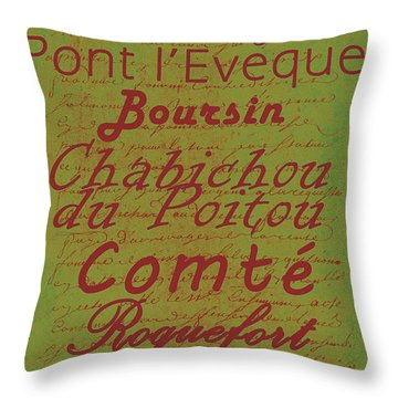 French Cheeses - 4 Throw Pillow by Paulette B Wright