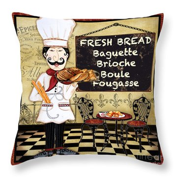 French Chef-a Throw Pillow by Jean Plout