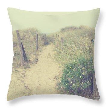 French Coast Beach Throw Pillow by Svetlana Novikova