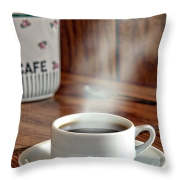 French Coffee Throw Pillow