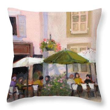 French Country Cafe Throw Pillow