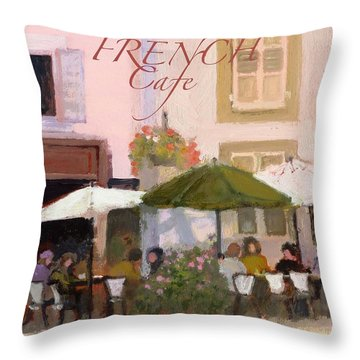 French Country Poster Throw Pillow