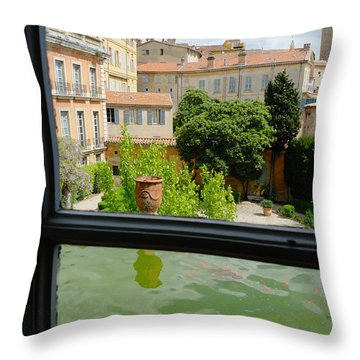 French Courtyard Throw Pillow