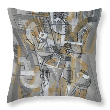 Throw Pillow featuring the digital art French Curves 1 by Clyde Semler