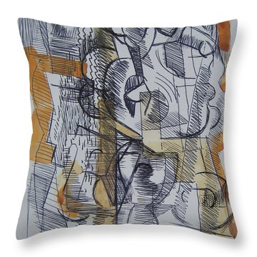 Throw Pillow featuring the digital art French Curves 2 by Clyde Semler