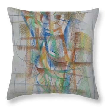 French Curves 3 Throw Pillow