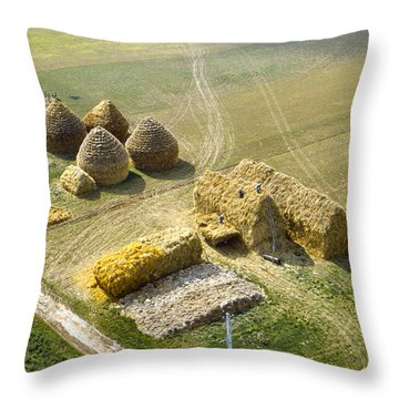 French Haystacks Throw Pillow
