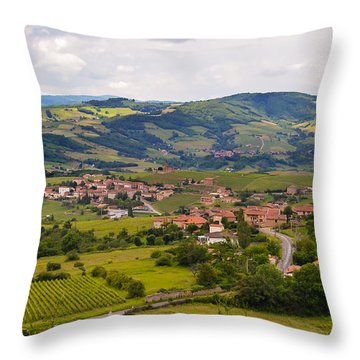 French Landscape 2 Throw Pillow by Allen Sheffield