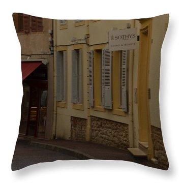 French Laneway Throw Pillow