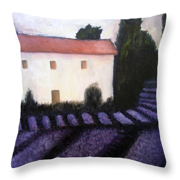French Lavender Throw Pillow by Venus