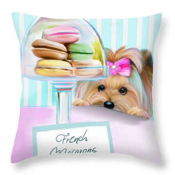 French Macarons Throw Pillow