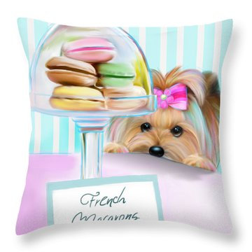 French Macarons Throw Pillow by Catia Cho