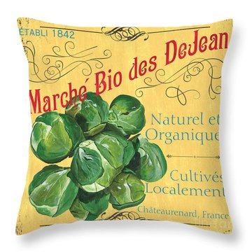 French Market Sign 1 Throw Pillow