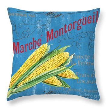 French Market Sign 2 Throw Pillow