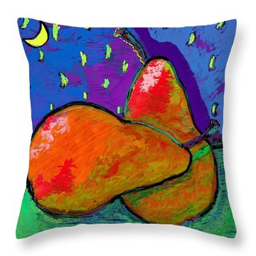 French Pears At Midnight Throw Pillow