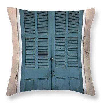 French Quarter Doors Throw Pillow