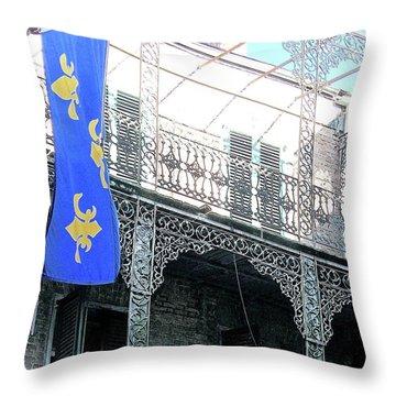 Throw Pillow featuring the photograph French Quarter Nola by Lizi Beard-Ward
