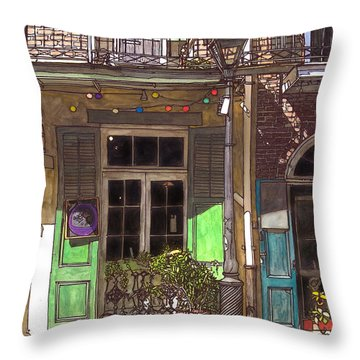 French Quarter Shop 369 Throw Pillow by John Boles