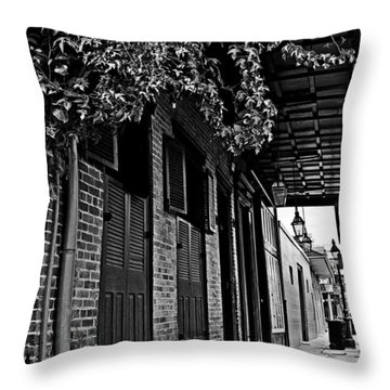 French Quarter Sidewalk Throw Pillow