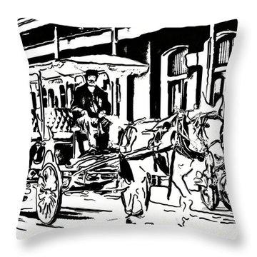 French Quarter Wheels 2 Throw Pillow by Steve Harrington